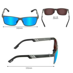 a977c37bbd AFARER Sports Sunglasses Polarized for Men Women Driving Running Fishing  Golf Cycling Hiking Climbing Goggles Metal Frame grey blue     Read more at  the ...