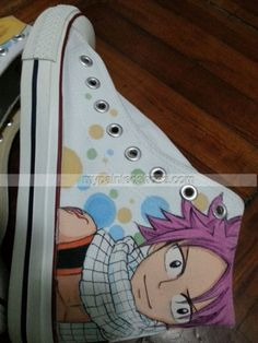 Fairy Tail Natsu Shoes Fairy Tail Gray, Fairy Tail Love, Fairy Tail Ships, Zeref, Fairytail, Painted Canvas Shoes, Custom Converse, Lolsotrue, Anime Merchandise