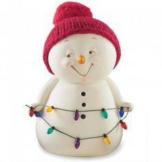 Snowpinions(MC) Figurine bonhomme de neige avec lumières