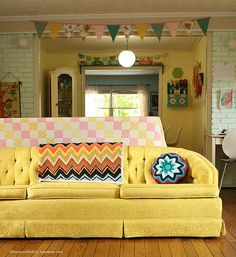 Pretty yellow couch