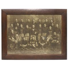 Over Sized Original Antique Yale University Football Team Photograph | From a unique collection of antique and modern sports at http://www.1stdibs.com/furniture/more-furniture-collectibles/sports/
