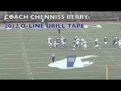 2012-2013 Coach Chenniss Berry Offensive Line Drill  Part 2