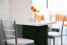 Planned, Designed & Produced by www.swankproductions.com orange capital #swankproductions #corporateparty #620loftandgarden #chic #party #eventplanner #bestofthebest #nyc #reception #colorful #decor #lounge #fun #flowers #rooftop #orange #ranunculus #ideas #inspiration #beautiful #high #grass #green #chairs #plexiglass #pillow #white #luminous #lighting #candles #manhattan