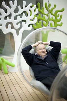Eero Aarnio born on the 21st of July, 1932 in Helsinki, Finland invented the Ball chair