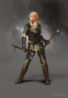 Shieldmaiden, Lilia Anisimova on ArtStation at https://www.artstation.com/artwork/QLLvx