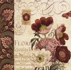 Resultado de imagen para letras con flores vintage