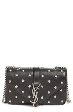 Saint Laurent 'Baby Monogram' Lambskin Crossbody Bag available at #Nordstrom