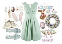"""Easter Time"" by kitten89 ❤ liked on Polyvore featuring Vintage, Almari, Pier 1 Imports, Topshop, Fitz and Floyd, Betsey Johnson and Easter"