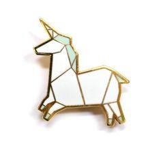 Unicorn Origami Brooch