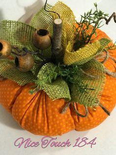 Fabric pumpkin, stuffed pumpkin, harvest pumpkin with burlap leaves and natural . - Fabric pumpkin, stuffed pumpkin, harvest pumpkin with burlap leaves and natural wooden stem - Autumn Crafts, Fall Crafts For Kids, Holiday Crafts, Diy And Crafts, Burlap Crafts, Fabric Crafts, Kids Diy, Fall Craft Fairs, Burlap Projects