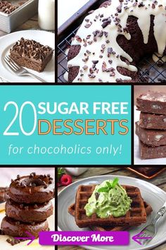 We all love chocolate, so why not enjoy it? Get rid of all the sugar & try one of these amazing cakes, donuts or truffles - all sugar free chocolate recipes from your favorite food bloggers all in one place! Low carb, paleo & gluten free friendly recipes! www.tasteaholics.com