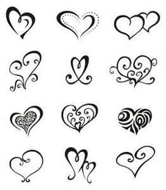 10 Unique Designs Of Tribal Heart Tattoos Pictures- to get the black swirly one that looks like a finger print on my pinkie would be sweet!