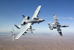 A-10. One of my favorite fighter planes! I loved watching these fly in formation in Arizona. =0)