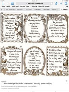 Wedding card sayings messages bridal shower 26 New ideas Wedding Card Verses, Wedding Shower Cards, Wedding Verses, Verses For Cards, Wedding Anniversary Cards, Bridal Shower, Greeting Card Sentiments, Les Sentiments, Sympathy Cards