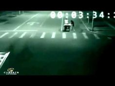 Alien caught on Security Camera saves a man from death 2013....strange but is it really true?