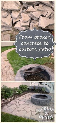 Recycled Concrete Patio. See All The Steps And How To Create This. Maybe We