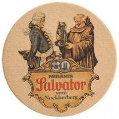 Cerveja Paulaner Salvator bolacha de chopp