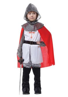 Arab Crusaders Small Warrior King Costume Children Stage Clothing for Masquerade Party
