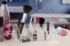 Caixa acrilico porta maquilhagem| Complementos | Casa-banho |Plástico | Marmair  http://www.marmair.pt/detalhe.php?p=5058  € 10,50