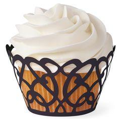 Black Swirls Cupcake Wraps by Wilton via Global Sugar Art