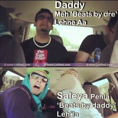Daddy, Meh 'Beats by Dre' Lehne Aa. omg lol so funny Funny Texts From Parents, Funny Quotes For Teens, Funny Quotes About Life, Punjabi Jokes, Punjabi Funny, Desi Humor, Desi Jokes, Good Morning Funny, Morning Humor