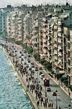 Thessaloniki seafront, from National Geographic, March 1980 Santorini, Travel Around The World, Around The Worlds, Athens Greece, Greece Thessaloniki, Places In Greece, Macedonia, Greece Travel, Greek Islands
