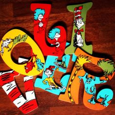 Dr Seuss Nursery Letters Name #cutencustom www.facebook.com/cutencustom
