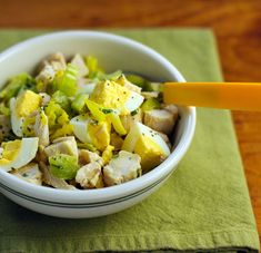 Recipe for chicken and egg salad with tarragon mustard vinaigrette; yum!  {The Perfect Pantry}