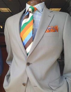 Dressed to impress in a S. Cohen suit, Gitman Bros. shirt, Seaward & Stearn striped tie and Robert Talbott pocket square. Available at Rush Wilson Limited, Greenville SC