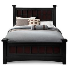 Adorable King Beds With Grey Bed Linen And Pillows