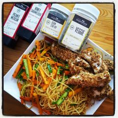 Crumbed Chicken and noodles. http://www.susanparry.yourinspirationathome.com.au/