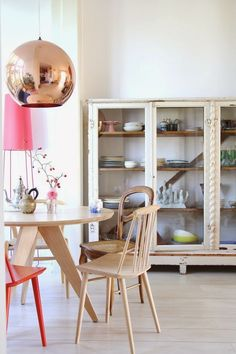 Reprint grandma's hutch and add wooden shelves??