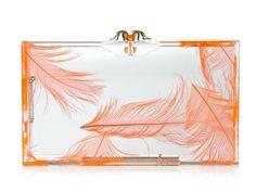 Charlotte Olympia Pandora Feather Perspex Box Clutch c/o Grace Ormonde Wedding Style