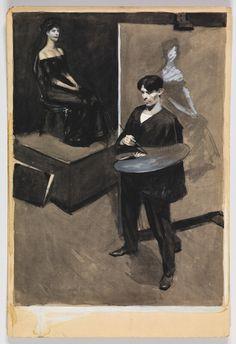 Edward Hopper: (Study of an Artist Painting a Portrait) 1900