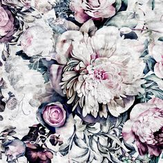 Introducing Ellie Cashman Dark Floral II Wallpaper in a 'sanded fresco' colorway. Coming soon to www.elliecashmandesign.com.