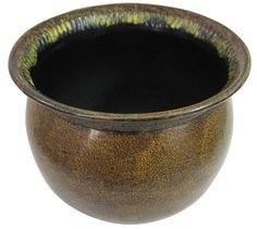 This little steel pot is painted to look like a bronze artifact from, say, Caesar Augustus's kitchen. Nice plant pot, or a container for spare change, marbles or writing instruments. Lawn And Garden, Garden Pots, Flower Planters, Planter Pots, Roman Era, Decorative Planters, Writing Instruments, Potted Plants, Outdoor Gardens