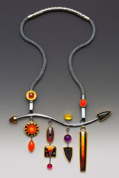"""Charmed Again"" by Lisa Hawthorne - viking knit, metalwork, and cloisonne enamel - great inspiration for p.c."