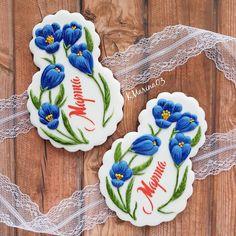 432 отметок «Нравится», 11 комментариев — @kmarina03 в Instagram: «Медово-имбирные прянички к 8 марта!!! Размер пряничка 14см. #люблю_готовить…» Mother's Day Cookies, Iced Cookies, Easter Cookies, Party Treats, Holiday Treats, Bake Sale Treats, Flower Sugar Cookies, Buttercream Flowers, Cookie Decorating