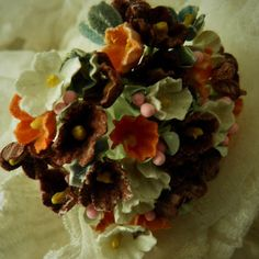 1 VINTAGE Bouquet Millinery Flowers Forget by homesteadtreasures, $3.50