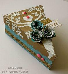 TweetScraps: September Stamp of the Month Cake Box #Seaside #Artiste #heatembossing