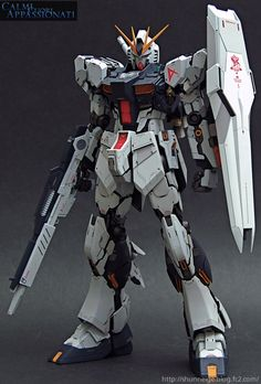GUNDAM GUY: MG 1/100 Nu Gundam Ver.ka - Customized Build