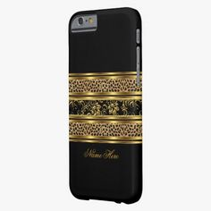 Love this iPhone 6 Case! iPhone 6 case Elegant Classy Gold Black Leopard Fl iPhone 6 Case