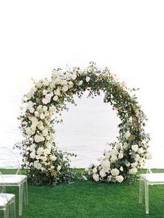 Pinterest Church Wedding Flowers, Wedding Sand, Mermaid Wedding, Floral Arch, Floral Wreath, Sands Resort, Essential Oil Blends, Wedding Events, Flower Arrangements