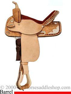 colorful pictures of western saddles | 15.5inch Circle Y Oak Leaf Used Trail Saddle | Western Saddle