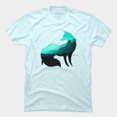 Misty. Mountain. Fox. Animal. Wild Life. Blue.