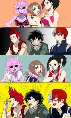Ashido Mina & Uraraka Ochako & Yaoyorozu Momo & Kirishima Eijirou & Midoriya Izuku & Todoroki Shouto