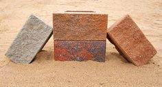 Cuesta Block is a 60 lbs a piece tall by front face gravity wall block. It comes 36 to a pallet and in these colors: Grey, Tan, Red/Black, Tan/Brown, Buff/Black. Retaining Wall Construction, Concrete Retaining Walls, Red Black, Pallet, Things To Come, Grey, Brown, Colors, Face