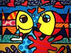 My favorite artist! Deeply in Love - Romero Britto