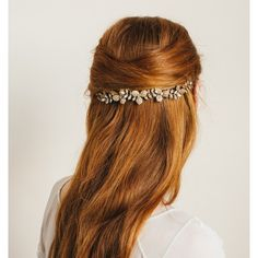 Celeste Comb ❤ liked on Polyvore featuring accessories, hair accessories, hair, hair comb, long comb, flower hair accessories, long hair combs and leaf hair accessories