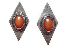Silver-Plate Tribal Earrings
